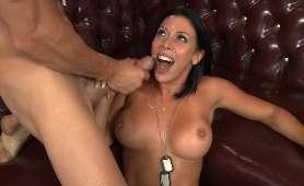 Seks wytrysk spermy na twarz - Rachel Starr, Brunetki